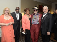 2013 Maria Russo, Gospel for Teens conductor, honorees Vy Higginsen and Dr. John with Dr. Robert Sataloff