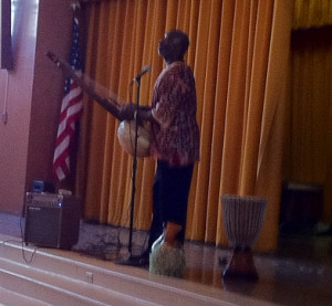storyteller Kala Jojo at Robert Morris School in Philadelphia