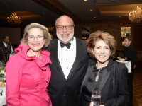2013 Dr Dahlia Sataloff with Gala Chair  Justice Sandra Schultz Newman and guest.