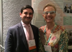 Dr. Ramil Hashimli, our first presenter from Azerbaijan, with Mara Behlau from Brazil.