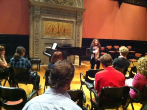 Image of master class with Melissa Cross