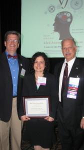 2014 Van Lawrence Award: NATS President, Allen Henderson, Awardee Katherine Osborne, TVF Chairman, Dr. Robert Sataloff