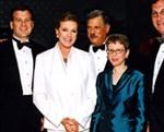 2002 Gala Co-Chairs  Steven and Mary Kay Cousart; 2002 VERA Award-Dame Julie Andrews;  Chairman, Robert T. Sataloff, M.D.; 2002 Sackler Award - Terry Gross; 2002 VERA Award-Sam Katz