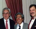 The founder of the Voice -  Foundation, Wilbur James Gould, M.D.; Minoru Hirano, M.D.;  Chairman Robert T. Sataloff, M.D., D.M.A.