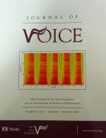 Journal of Voice cover image
