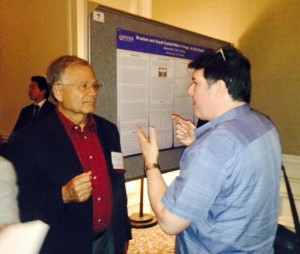 Ingo Titze and Richard Lissemore discussing posters